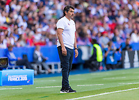 PARIS,  - JUNE 16: Jose Letelier watches his team during a game between Chile and USWNT at Parc des Princes on June 16, 2019 in Paris, France.