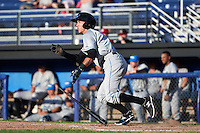 Hudson Valley Renegades second baseman Miles Mastrobuoni (9) at bat during a game against the Batavia Muckdogs on July 31, 2016 at Dwyer Stadium in Batavia, New York.  Hudson Valley defeated Batavia 4-1.  (Mike Janes/Four Seam Images)