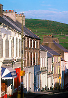 Shop and pub lined street, Dingle, County Kerry, Ireland