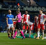 18.3.2021 Rangers v Slavia Prague: Kemar Roofe sent off