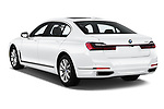 Car pictures of rear three quarter view of a 2020 BMW 7 Series 740i Luxury 4 Door Sedan angular rear
