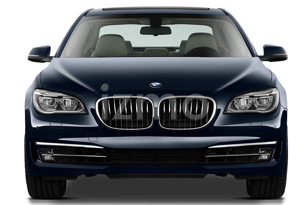 Straight front view of a 2013 BMW 7-Series 750i sedan