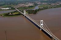 Aerial view of the M48 Severn Bridge