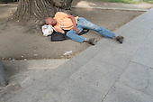 Homeless man, Budapest.