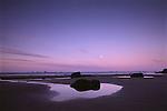 Sunrise and moonset, Cape Blanco, Oregon