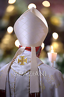 Pope Francis, during the Easter vigil mass in Saint Peter's Basilica, in the Vatican, 2013..April 18,2014