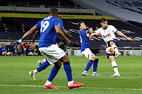 Ben Davies of Tottenham Hotspur gets in a shot during Tottenham Hotspur vs Everton, Premier League Football at Tottenham Hotspur Stadium on 6th July 2020