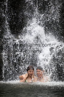 Malaysia, Pulau Langkawi, near Kuah: Temurun waterfall on NE of island   Malaysia, Pulau Langkawi, bei Kuah: der Temurun Wasserfall