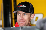 Sprint Cup Series driver Carl Edwards (19) relaxes before the Nascar's NXS O'Reilly Auto Parts Challenge at Texas Motor Speedway in Fort Worth,Texas.