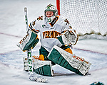 1 December 2018: University of Vermont Catamount Goaltender Melissa Black, a Senior from Newmarket, Ontario, in second period action against the University of Maine Black Bears at Gutterson Fieldhouse in Burlington, Vermont. The Lady Cats defeated the Lady Bears 3-2 in the second game of their 2-game Hockey East series. Mandatory Credit: Ed Wolfstein Photo *** RAW (NEF) Image File Available ***