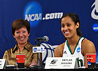 Mar. 18, 2012; Skylar Diggins and head coach Muffet McGraw answer questions at the press conference following the opening game of the 2012 Women's Basketball NCAA Tournament...Photo by Matt Cashore/University of Notre Dame