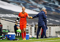 28th August 2020; Tottenham Hotspur Stadium, London, England; Pre-season football friendly; Tottenham Hotspur v Reading FC;  Goalkeeper Joe Hart of Tottenham Hotspur giving a fist bump to Goalkeeper Joe Hart after being subbed off during the 2nd half