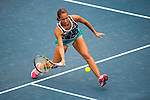 Luksika Kumkhum of Thailand vs Monica Puig of Puerto Rico during the WTA Prudential Hong Kong Tennis Open at the Victoria Pack Stadium on October 12 2015 in Hong Kong, China. Photo by Aitor Alcalde / Power Sport Images