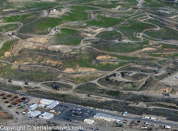 aerial photograph of San Ardo Oil Field, Monterey County, California