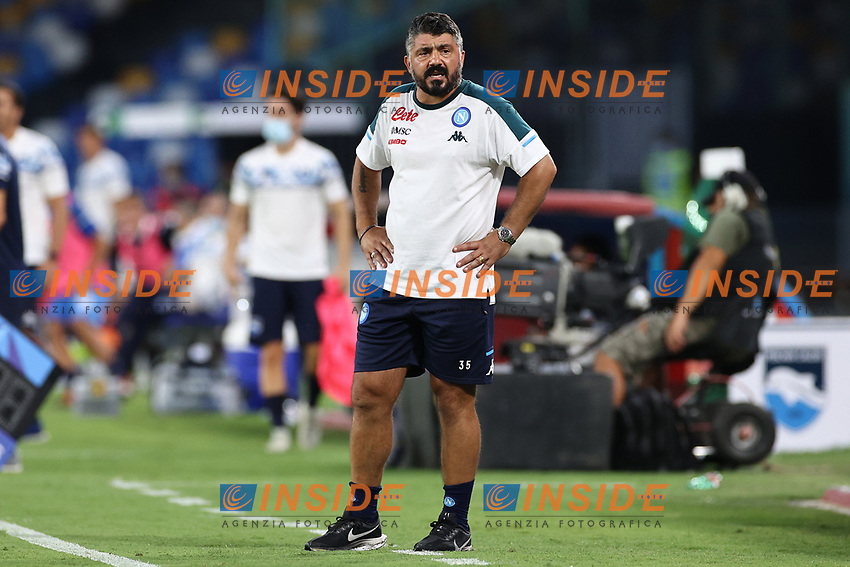Gennaro Gattuso coach of SSC Napoli <br /> during the friendly football match between SSC Napoli and Pescara Calcio 1936 at stadio San Paolo in Napoli, Italy, September 11, 2020. <br /> Photo Cesare Purini / Insidefoto