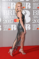 Pixie Lott<br /> arrives for the BRIT Awards 2017 held at the O2 Arena, Greenwich, London.<br /> <br /> <br /> ©Ash Knotek  D3233  22/02/2017