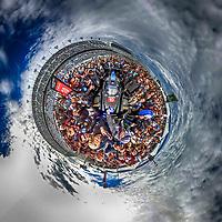 "360 degree ""Little Planet"" view of the #10 Cadillac DPi on the grid before the 2017 Rolex 24 at Daytona IMSA WeatherTech series race, Daytona International Speedway, daytona Beach , FL, January28,  2017.  (Photo by Brian Cleary/bcpix.com)"