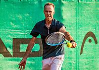 Hilversum, The Netherlands,  August 20, 2021,  Tulip Tennis Center, NKS, National Senior Tennis Championships, Men's single 50+, Frank van den Heuvel  (NED)<br /> Photo: Tennisimages/Henk Koster
