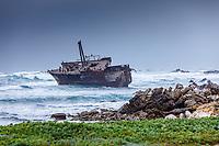 Africa, Southafrica, Boulders, African Meisho maru Ship wreck,