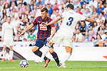 Real Madrid's player Pepe and Eibar FC's player Sergi Enrich during a match of La Liga Santander at Santiago Bernabeu Stadium in Madrid. October 02, Spain. 2016. (ALTERPHOTOS/BorjaB.Hojas)