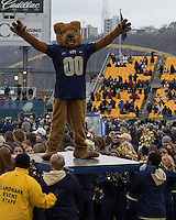 Pitt Panthers mascot ROC. The Pitt Panthers defeat the Rutgers Scarlet Knights 27-6 on Saturday, November 24, 2012 at Heinz Field , Pittsburgh, PA.
