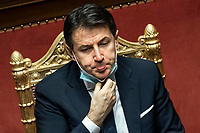 The Italian Premier Giuseppe Conte during the information at the Senate about the government crisis.<br /> Rome(Italy), January 19th 2021<br /> Photo Pool Roberto Monaldo/Insidefoto