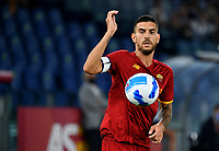 Calcio, Serie A: AS Roma vs Udinese, Olympic stadium, September 23, 2021.<br /> Roma's captain Lorenzo Pellegrini in action during the Italian Serie A football match between Roma and Udinese at Rome's Olympic stadium, on September 23, 2021.<br /> UPDATE IMAGES PRESS/Isabella  Bonotto