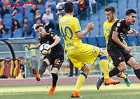 Roma s Stephan El Shaarawy, kicks the ball during the Italian Serie A football match between Roma and Chievo Verona at Rome's Olympic stadium, 28 April 2018.<br /> UPDATE IMAGES PRESS/Riccardo De Luca