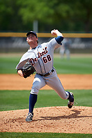 Detroit Tigers pitcher Locke St. John (68) during a minor league Spring Training game against the New York Yankees on March 22, 2017 at the Yankees Complex in Tampa, Florida.  (Mike Janes/Four Seam Images)