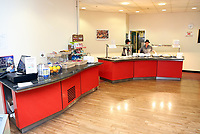 Pictured: The cafe restaurant at the hospital at Neath Port Talbot hospital. Wednesday 08 November 2017<br />Re: Presentation of hospital catering syndicate win £25m in Euromillions Jackpot at Hensol Castle, south Wales, UK. Julie Saunders, 56, Doreen Thompson, 56, Louise Ward, 37, Jean Cairns, 73, SIan Jones, 54 and Julie Amphlett, 50 all work as catering staff for Neath Port Talbot Hospital in south Wales.