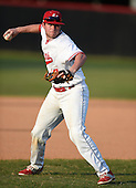 Lake Mary Rams third baseman Jonathan Burkett (7) during practice before a game against the Lake Brantley Patriots on April 2, 2015 at Allen Tuttle Field in Lake Mary, Florida.  Lake Brantley defeated Lake Mary 10-5.  (Mike Janes Photography)