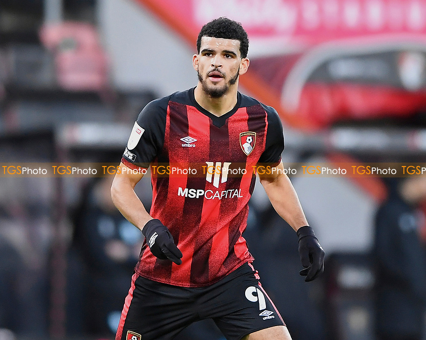 Dominic Solanke of AFC Bournemouth during AFC Bournemouth vs Huddersfield Town, Sky Bet EFL Championship Football at the Vitality Stadium on 12th December 2020