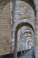 France, Haute-Marne (52), Chaumont, viaduc ferroviaire et piétonnier de Chaumont du XIXe siècle