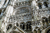 Reims Cathedral-- exterior detail. Gothic Architecture