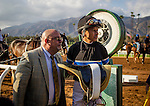 September 27 2014: Jockey, Mike Smith weighs out after winning the Awesome Again Stakes at Santa Anita Park in Arcadia CA. Alex Evers/ESW/CSM