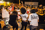 BATON ROUGE, LA -JULY 06:  Protesters dance in the street near theTriple S Food Mart where Alton Sterling was shot and killed by police on July 5, 2016 in Baton Rouge, Louisiana. (Photo by Mark Wallheiser/Getty Images)