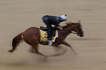 BALTIMORE, MD - MAY 17: Good Magic gallops over a sloppy track at Pimlico Racecourse on May 17, 2018 in Baltimore, Maryland. (Photo by Alex Evers/Eclipse Sportswire/Getty Images)