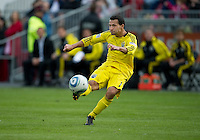 23 April 2011: Columbus Crew midfielder Dilly Duka #11in action during a game between the Columbus Crew and the Toronto FC at BMO Field in Toronto, Ontario Canada..The game ended in a 1-1 draw.