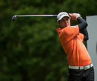 24.05.2015. Wentworth, England. BMW PGA Golf Championship. Final Round.  Peter Uihlein [USA] Tee shot on the 3rd hole during the final round of the 2015 BMW PGA Championship from The West Course Wentworth Golf Club