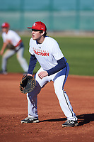 Jesse Lieberman (52), from San Francisco, California, while playing for the Nationals during the Under Armour Baseball Factory Recruiting Classic at Red Mountain Baseball Complex on December 28, 2017 in Mesa, Arizona. (Zachary Lucy/Four Seam Images)