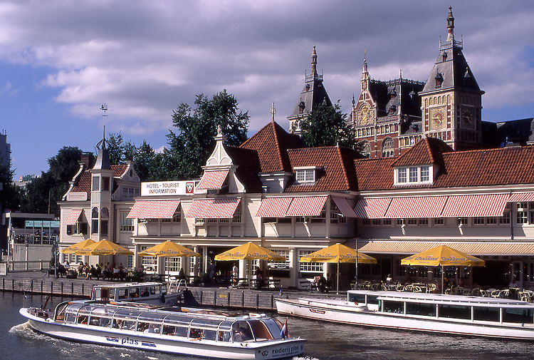 Europe, NLD, Netherlands, Province North Holland, Amsterdam, Tour Boat in Canal