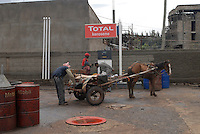 Addis Abeba, etiopia,  distributore benzina, petrol pump