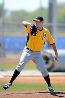 Pittsburgh Pirates pitcher Josh Smith #32 during a minor league spring training game against the Toronto Blue Jays at Englebert Minor League Complex on March 16, 2013 in Dunedin, Florida.  (Mike Janes/Four Seam Images)