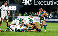 Friday 8th October 2021<br /> <br /> Callum Braley during the URC Round 3 clash between Ulster Rugby and Benetton Rugby at Kingspan Stadium, Ravenhill Park, Belfast, Northern Ireland. Photo by John Dickson/Dicksondigital
