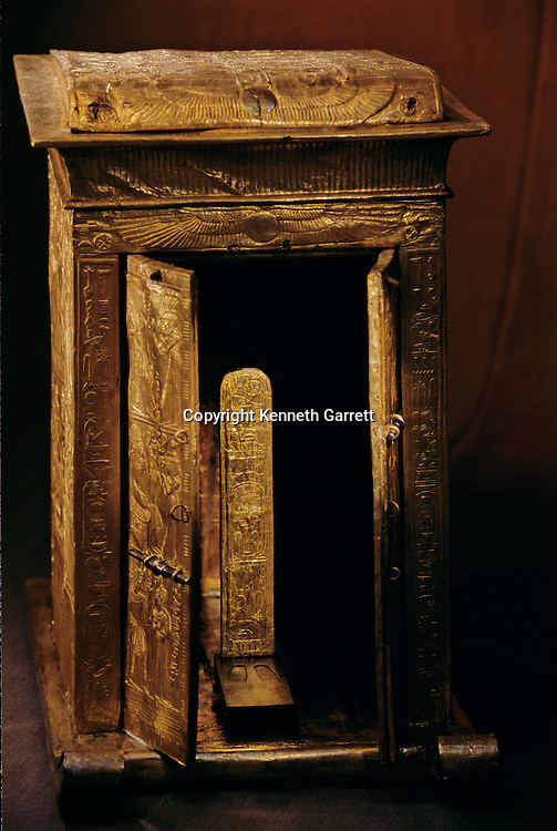 Gilded shrine for statue, KV 62,Tutankhamun and the Golden Age of the Pharaohs, Page 182