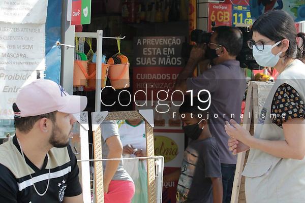 Campinas (SP), 19/08/2020 - Comércio-SP - Fiscais do Procon, Vigilância Sanitária, Defesa Civil e Guarda Municipal realizaram uma fiscalização nos comércios do bairro Satélite Iris em Campinas, interior de São Paulo, nesta quarta-feira (19).