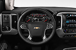 Car pictures of steering wheel view of a 2018 Chevrolet Silverado 2500 LT Crew Cab 4 Door Pick Up