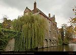 Carthusian Nuns Monastery, Rear Facade on the Dijver, Bruges, Brugge, Belgium