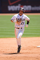 Mickey Wiswall #17 of the Boston College Eagles rounds the bases after hitting a home run at Durham Bulls Athletic Park May 21, 2009 in Durham, North Carolina.  (Photo by Brian Westerholt / Four Seam Images)