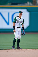 Fort Wayne TinCaps shortstop Justin Lopez (14) during a Midwest League game against the Peoria Chiefs on July 17, 2019 at Parkview Field in Fort Wayne, Indiana.  Fort Wayne defeated Peoria 6-2.  (Mike Janes/Four Seam Images)